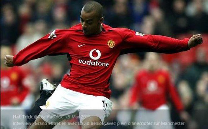 David Bellion saat berseragam Manchester United.
