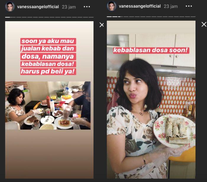 Instagram/vanessaangelofficial__Vanessa Angel memamerkan kebab buatannya