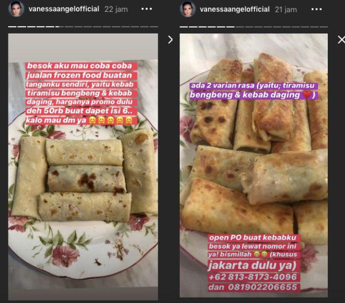 Kebab yang dijual Vanessa