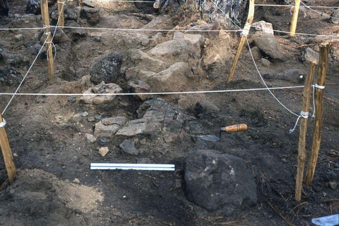 Peninggalan arkeologis smelter pribumi Meksiko.