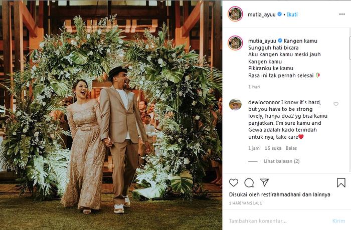Cara Mutia Ayu ungkap kerinduan dengan suaminya