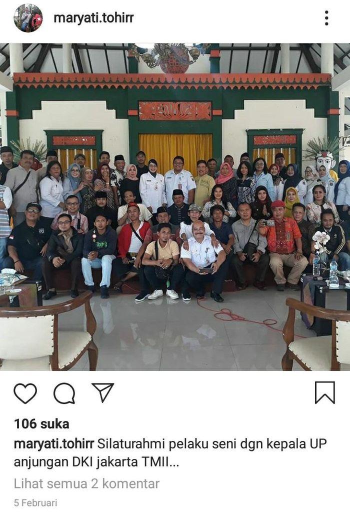 Pemain film Si Doel The Movie di kawasan Lebak Bulus, Jakarta Selatan, Rabu (27/3/2019) malam.
