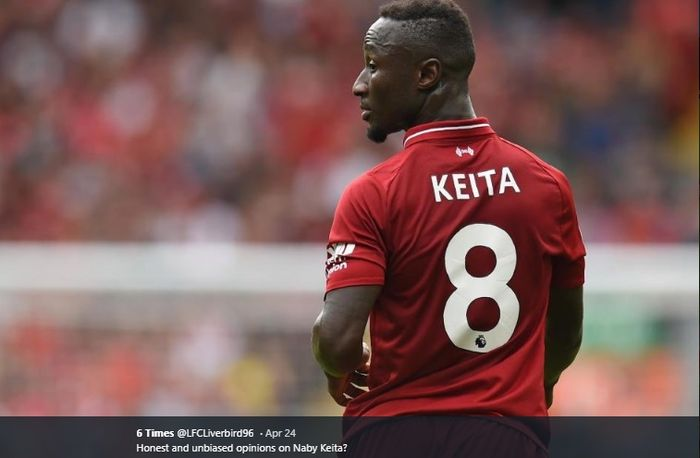 Gelandang tengah milik Liverpool, Naby Keita adalah sosok pemain penerus nomor punggung legendaris klub yakni nomor delapan milik mantan kapten The Reds, Steven Gerrard.