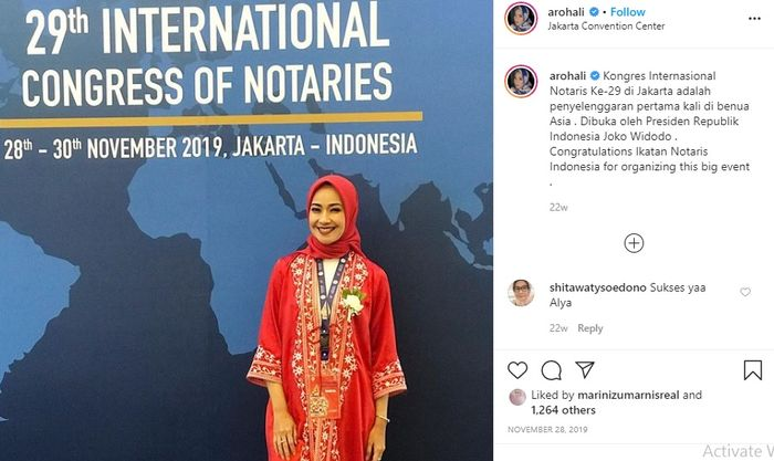 Alya kerap mengikuti konferensi notaris
