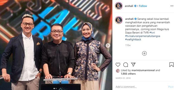 Alya kembali didapuk jadi presenter