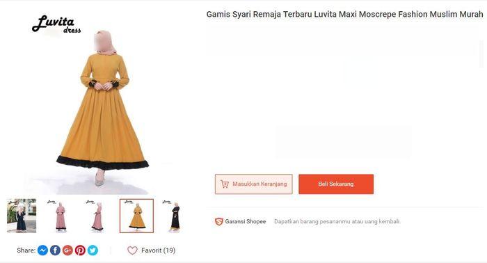 Beberapa Model Baju Gamis Lebaran 2020 Untuk Si Kakak Yang Masih Remaja Tetap Belanja Dari Rumah Ya Moms Semua Halaman Nakita