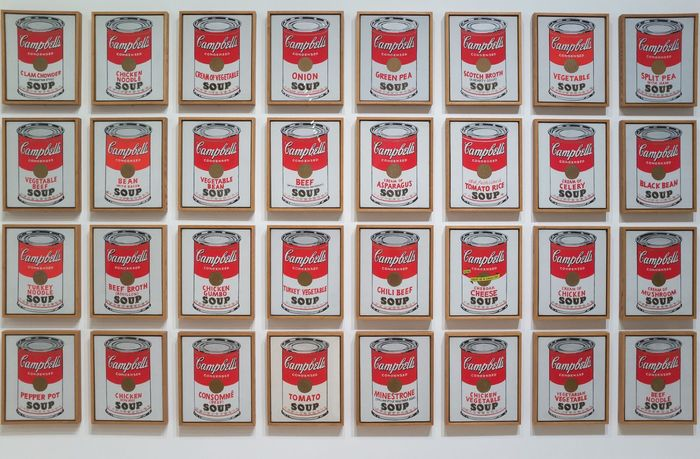 Kaleng Sup Campbell's (1962) seperti yang terlihat dalam
