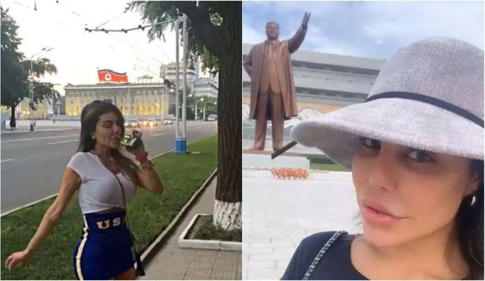 Minum di pinggir jalan umum dan berfoto dengan patung penguasa dilarang di Korea Utara.