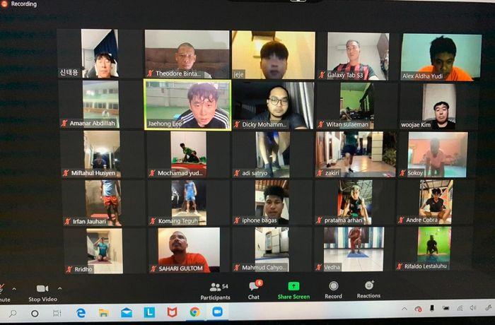 TC Timnas U-19 Indonesia secara virtual