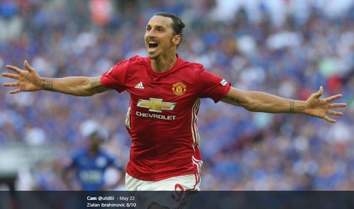 Penyerang asal Swedia, Zlatan Ibrahimovic , sewaktu masih berseragam Manchester United selama 1,5 tahun dari 2016-2018.