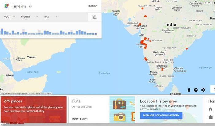 Fitur Timeline di Google Maps