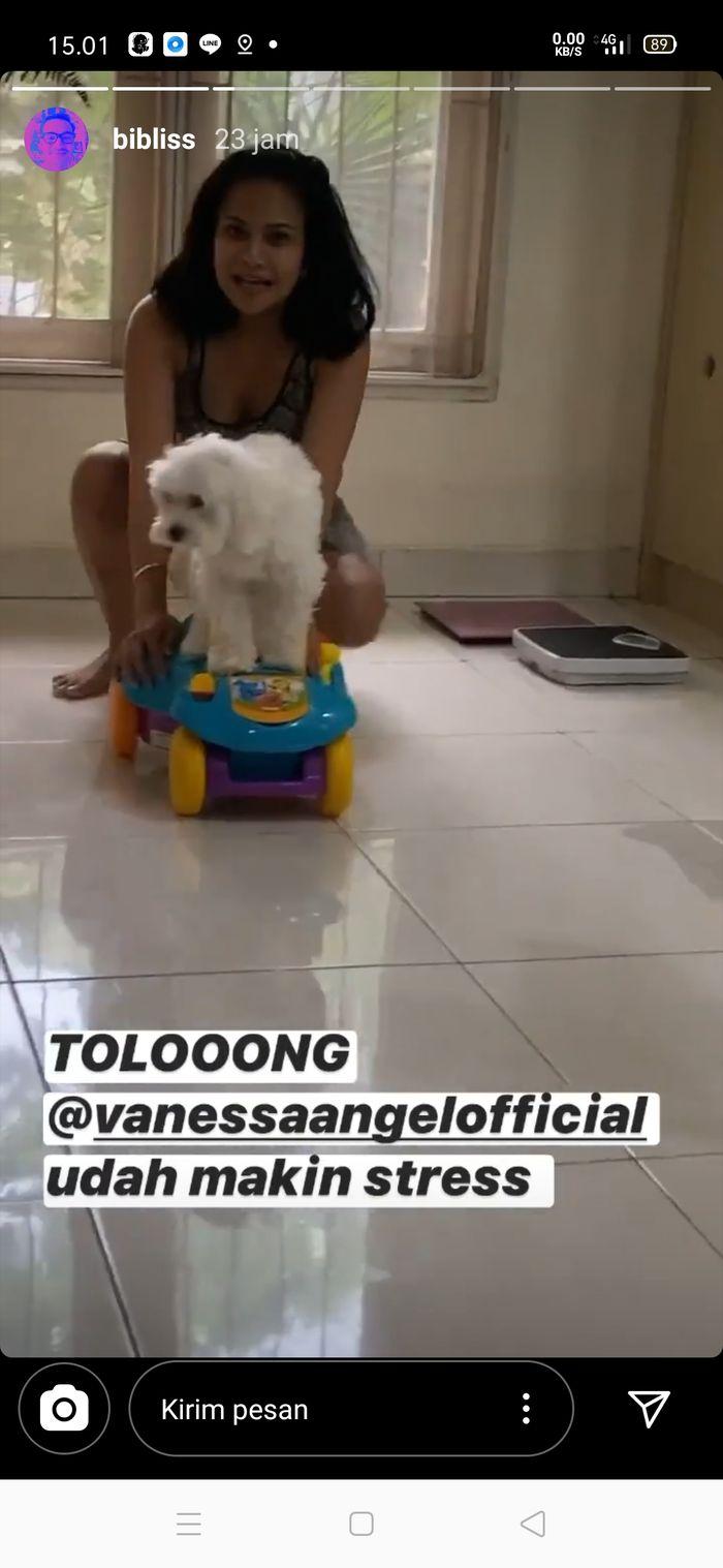 Tangkapan layar unggahan suami Vanessa Angel, Bibi Ardiansyah.