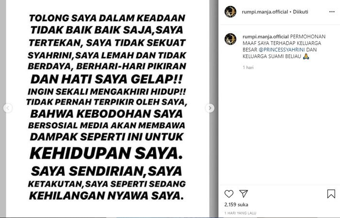 Pemilik akun gosip minta maaf ke Syahrini hingga akui ketakutan dan tertekan dengan laporan sang artis.