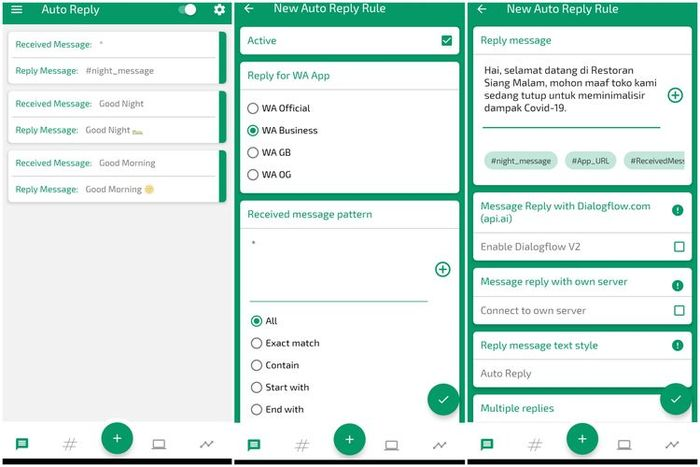 Cara membuat pesan balasan otomatis WhatsApp Business lewat aplikasi Auto Reply