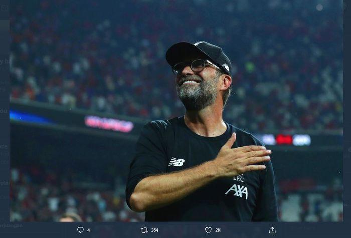 Arsitek Liverpool, Juergen Klopp, pelatih pertama asal Jerman yang memenangi Liga Inggris.