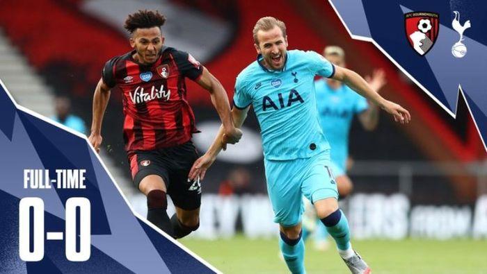 Laga Tottenham Hotspur versus Bournemouth di Vitality Stadium, Kamis (9/7/2020).