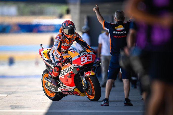 Marc Marquez mengikuti keinginan tubuh ketika memutuskan untuk mencoba balap dan juga berhenti balap MotoGP Andalusia 2020