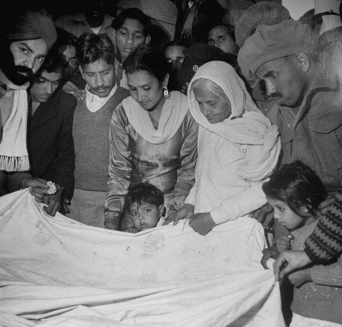 Pemakaman Gandhi.