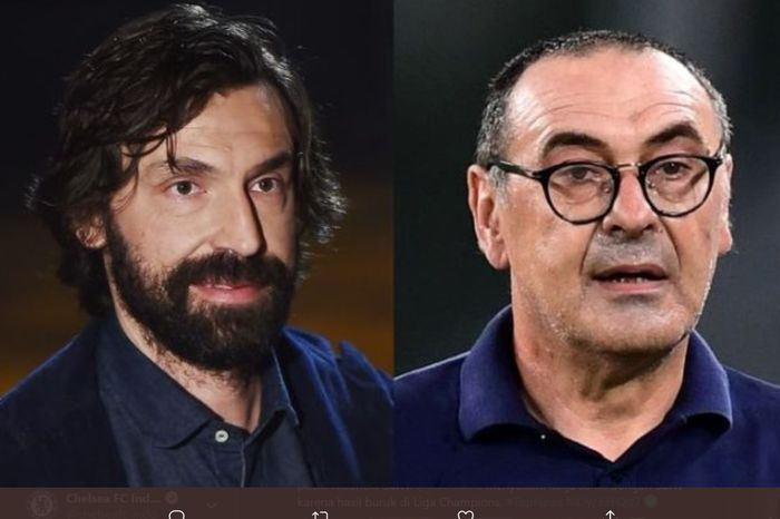 Ilustrasi pelatih baru Juventus, Andrea Pirlo menggantikan pelatih sebelumnya Maurizio Sarri.