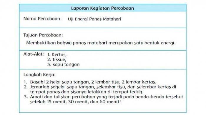 Inilah Kunci Jawaban Buku Tematik Tema 2 Kelas 4 Sd Halaman 2 3 4 5 6 7 8 Subtema 1 Pembelajaran 1 Selalu Berhemat Energi