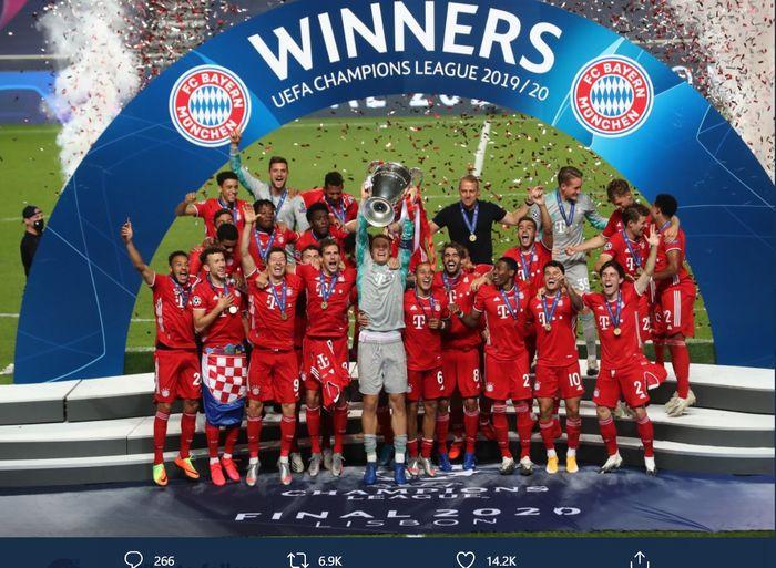 Bayern Muenchen juara Liga Champions 2019-2020.