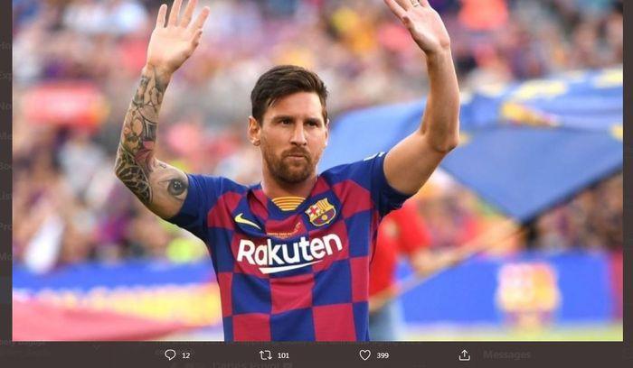 Kapten <a href='https://padang.tribunnews.com/tag/barcelona' title='Barcelona'>Barcelona</a>, <a href='https://padang.tribunnews.com/tag/lionel-messi' title='LionelMessi'>LionelMessi</a>.