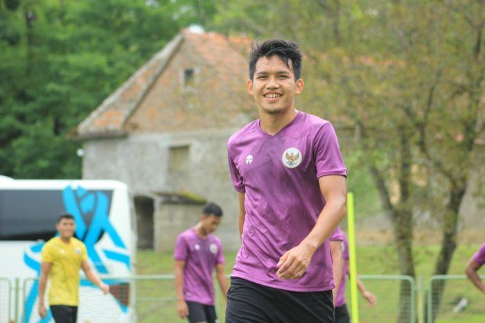 Gelandang timnas U-19 Indonesia, Witan Sulaeman saat menjalani Pemusatan Latihan (TC) di Kroasia.