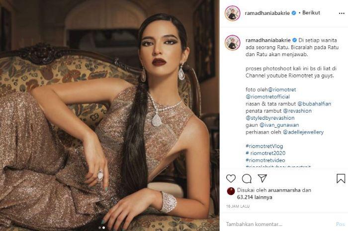Potret cantik Nia Ramadhani yang disebut mirip dengan barbie. (Tangkap layar Instagram @ramadhaniabakrie)