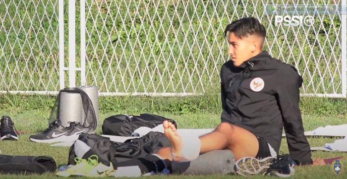 Jack Brown terlihat mengalami cedera saat latihanjelang melawan Bulgaria di Stadion Igraliste NK Polet, Sventi Martin na Mauri, Kroasia, Sabtu (5/9/2020).