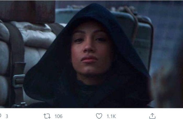 Penampakan Sasha Banks di trailer musim kedua serial The Mandalorian.
