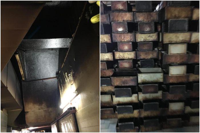 Peralatan dan tembok di pabrik roti yang kotor. Kolase gambar Facebook/DBLK
