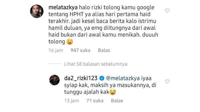 Balasan Rizki DA pada netizen@da2_rizki123