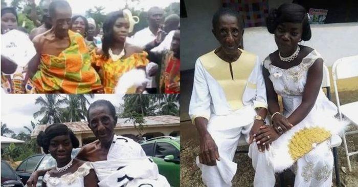Momen Asabea menikahi pria berusia 106 tahun Akwasi.