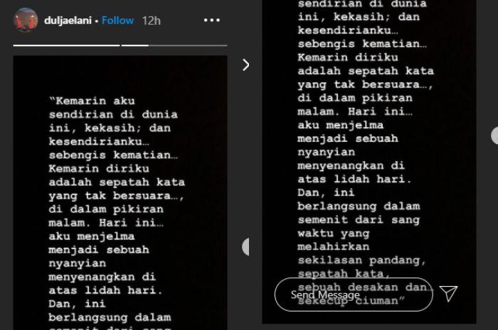 Kisah Instagram Dul Jaelani