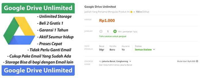 Tips Cara Beli Kapasitas Google Drive mudah