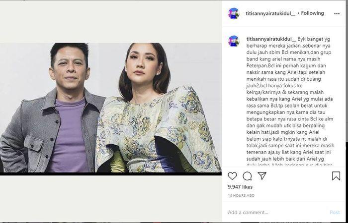 Unggahan Nyai Ratu Kidul. (Instagram/@titisannyairatukidul_)