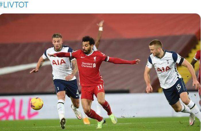 Salah di Laga Liverpool vs Tottenham
