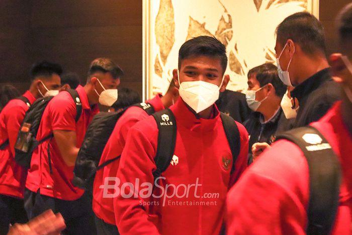 Pemberangkatan skuad timnas U-19 Indonesia dair Hotel Fairmont, Jakarta menuju Spanyol, Sabtu (26/12/2020).