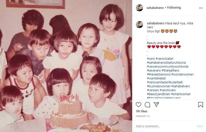 Potret masa kecil Veronica Tan