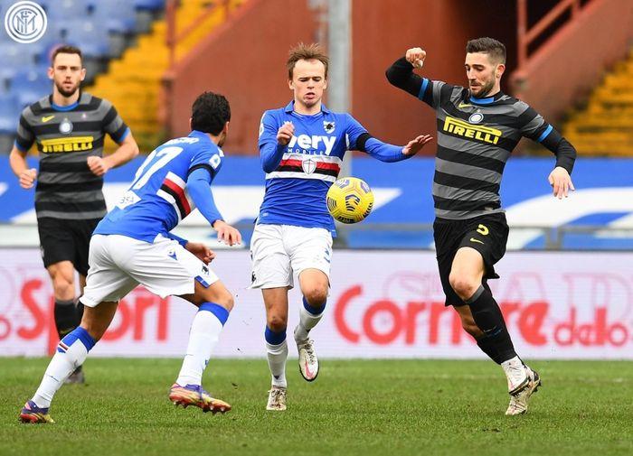 Inter Milan takluk 1-2 dari Sampdoria dalam laga pekan ke-16 Liga Italia di Stadion Luigi Ferraris, Rabu (6/1/2020).