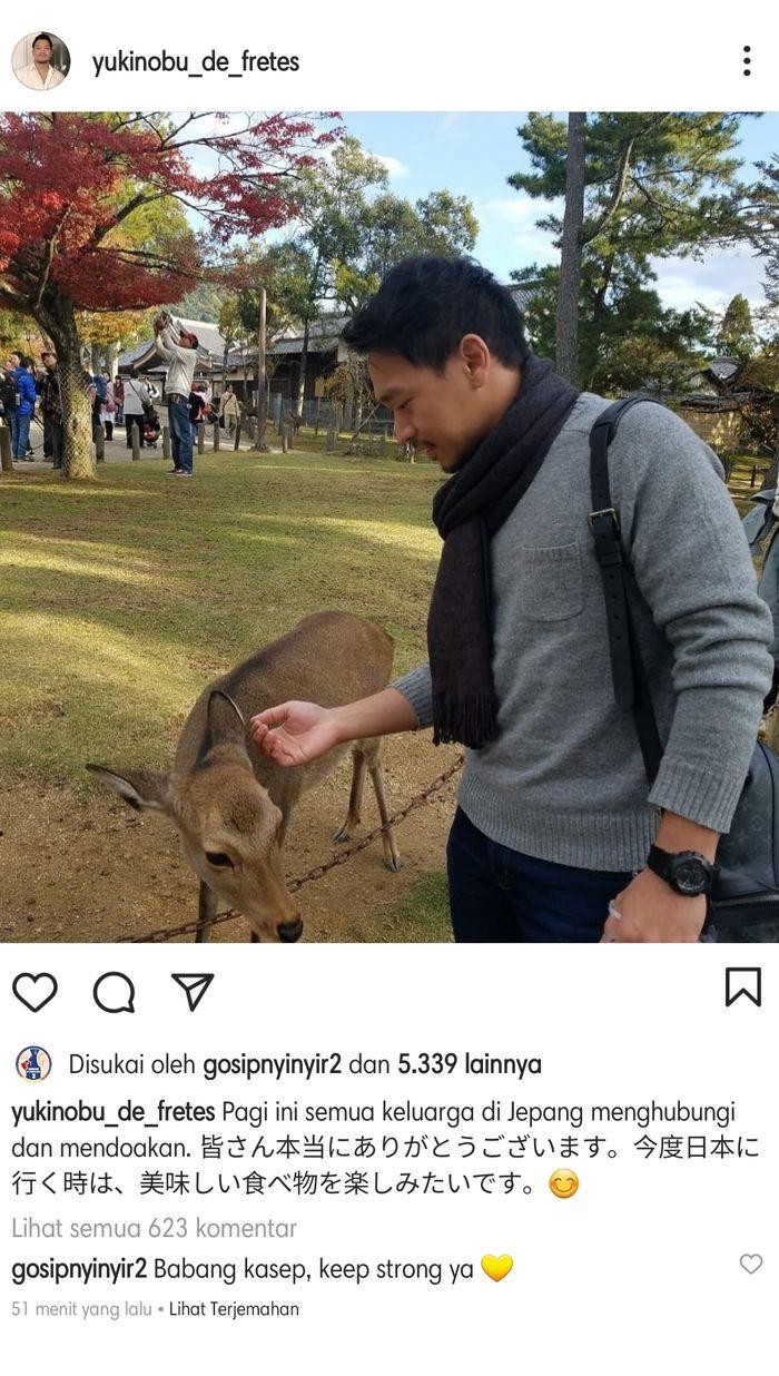 Michael Yukinobu De Fretes mengungkapkan dukungan yang mengalir kepadanya.