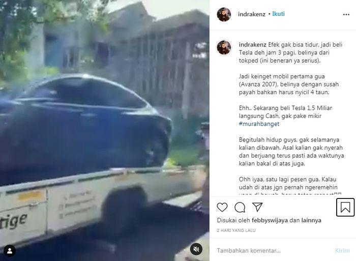 Indra Kenz, Crazy Rich yang beli mobil jam 3 pagi bikin heboh
