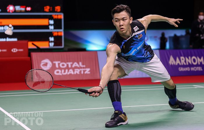 Pemain tunggal putra Malaysia, Lee Zii Jia pada babak perempat final Thailand Open I 2021, Jumat (15/1/2021)