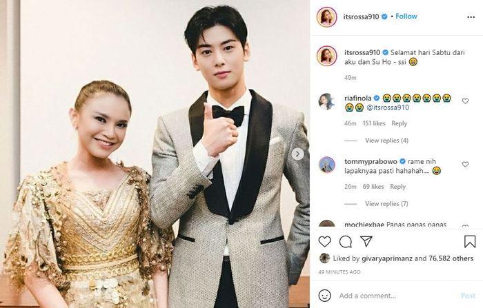 Unggahan Instagram Rossa bersama Cha Eun Woo