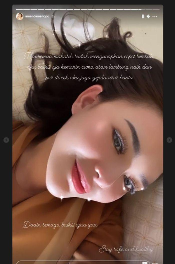 Kondisi kesehatan Amanda Manopo