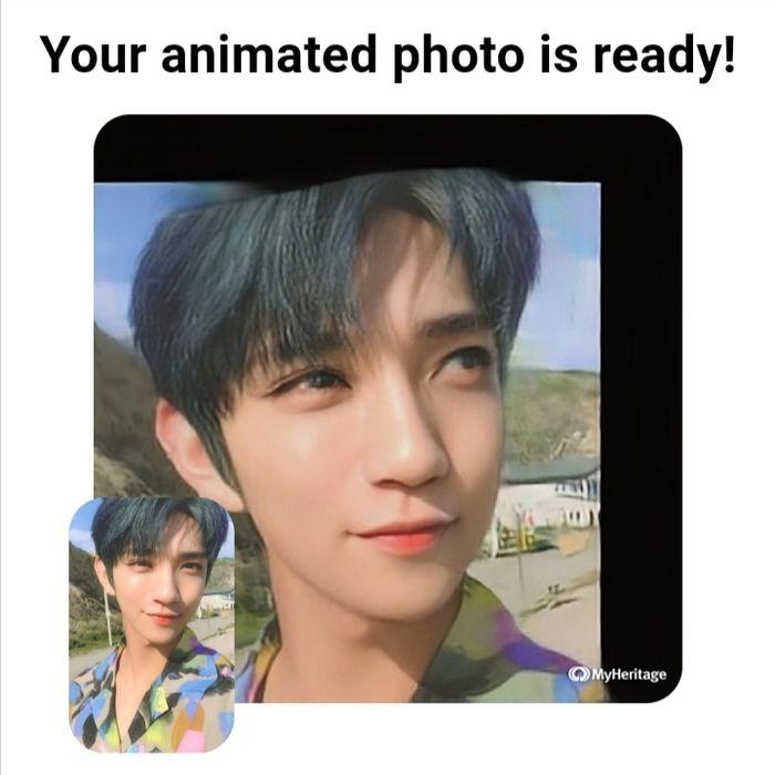 Hasil tangkapan layar ketika foto berhasil di edit.