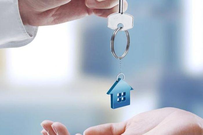 Ilustrasi jual beli properti, rumah, apartemen, atau bangunan lainnya.