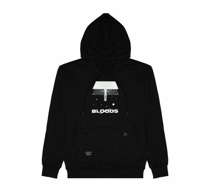 Hoodie Brand Lokal Keren Warna Hitam Bloods