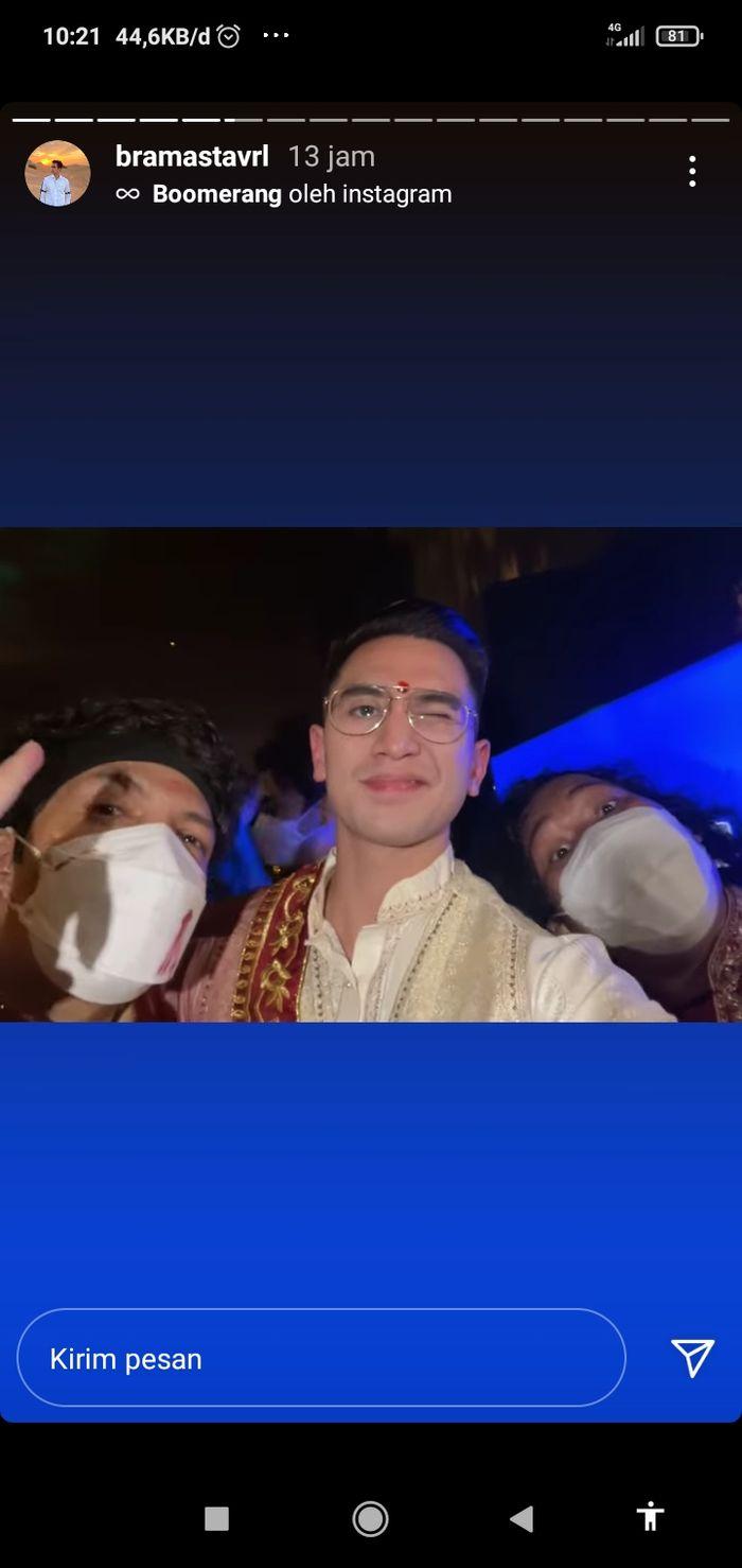 Acara lepas bujang Atta Halilintar dihadiri juga oleh mantan kekasih Aurel Hermansyah yang juga rekan selebritis Atta Halilintar yaitu Verrell Bramasta.