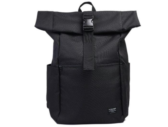 Backpack Brand Lokal Warna Hitam Cotton Goods